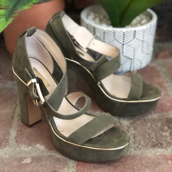 14a76b720fbe Louise et Cie Shoes | Olive Ankle Wrap Chucky Heel | Poshmark